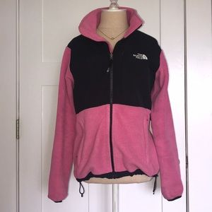 Woman's Pink North Face Zip-up